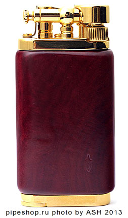 Зажигалка трубочная IM CORONA OLD BOY DARK RED BRIAR GOLD PLATED 64 5007