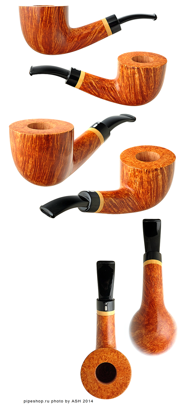 Курительная трубка JACONO JACK SMOOTH QUARTER BENT DUBLIN WITH BOXWOOD