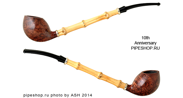 Курительная трубка TSUGE SMOOTH 10th ANNIVERSARY PIPESHOP.RU 8/25