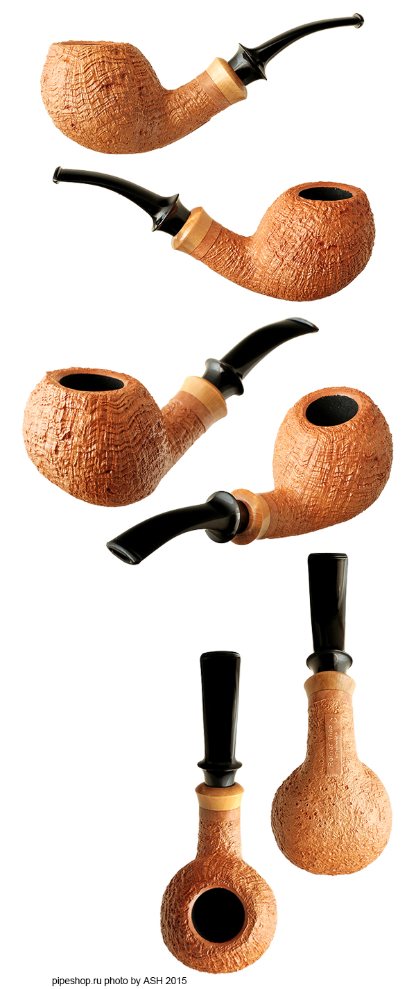 Курительная трубка REINER THILO TAN SANDBLAST QUARTER BENT APPLE WITH BOXWOOD