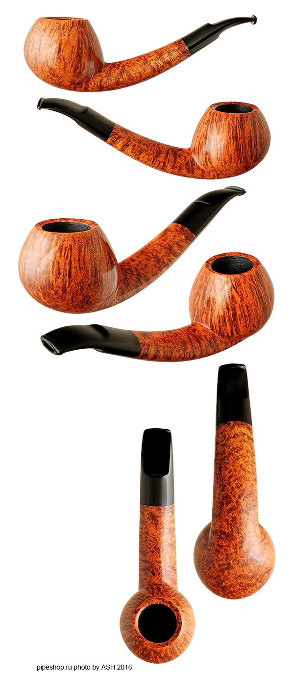 Курительная трубка BENNI JORGENSEN SMOOTH QUARTER BENT LONG SHANK APPLE