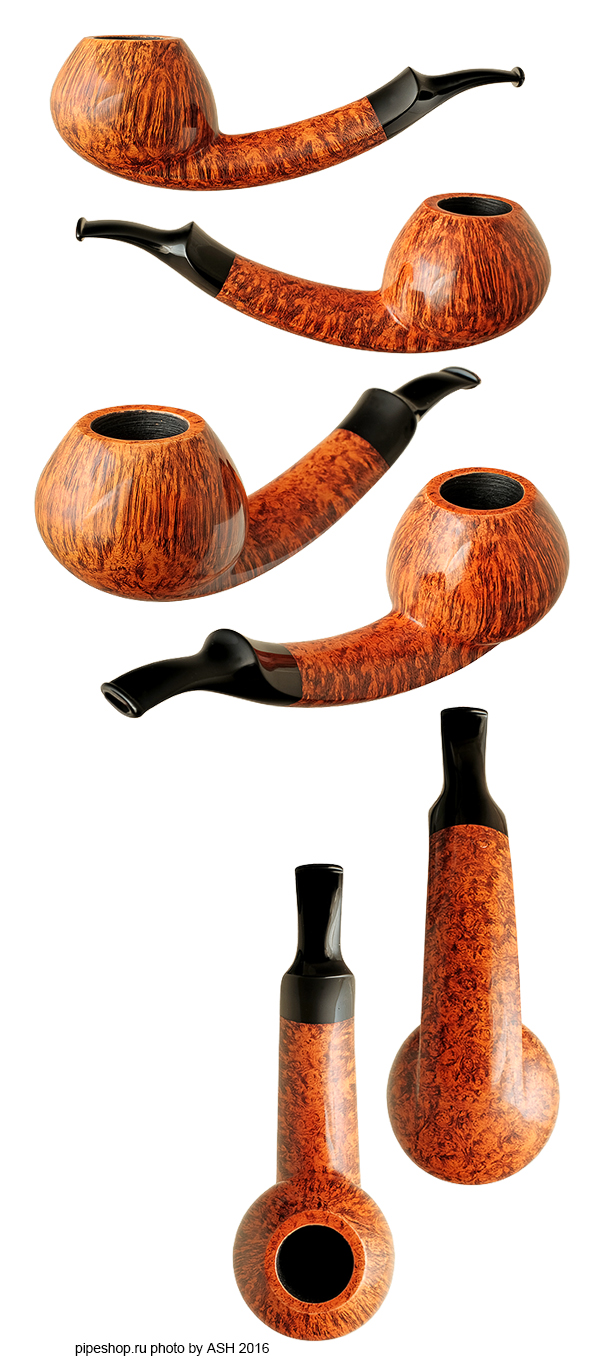 Курительная трубка BENNI JORGENSEN SMOOTH QUARTER BENT LONG SHANK TOMATO