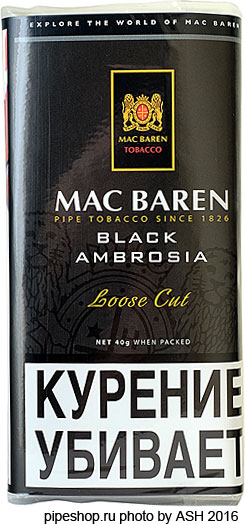 "Трубочный табак Mac Baren ""BLACK AMBROSIA"" Loose Cut 40 g"