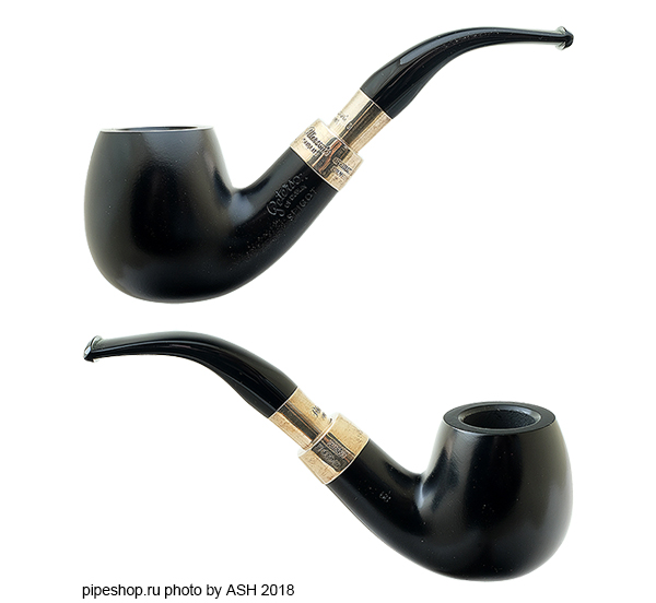 Курительная трубка PETERSON EBONY SILVER MOUNTED SPIGOT 68
