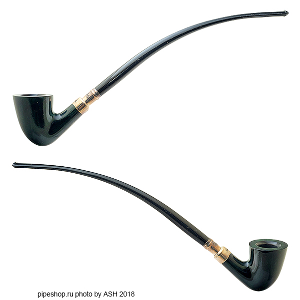 Курительная трубка PETERSON CHURCHWARDEN STERLING SILVER SPIGOT SMOOTH GREEN D15