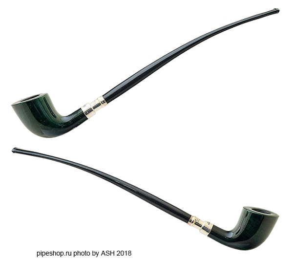 Курительная трубка PETERSON CHURCHWARDEN STERLING SILVER SPIGOT SMOOTH GREEN D6
