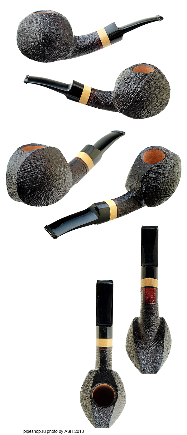 Курительная трубка PETER HEESCHEN SANDBLAST BLOWFISH WITH BOXWOOD Grade A ESTATE NEW
