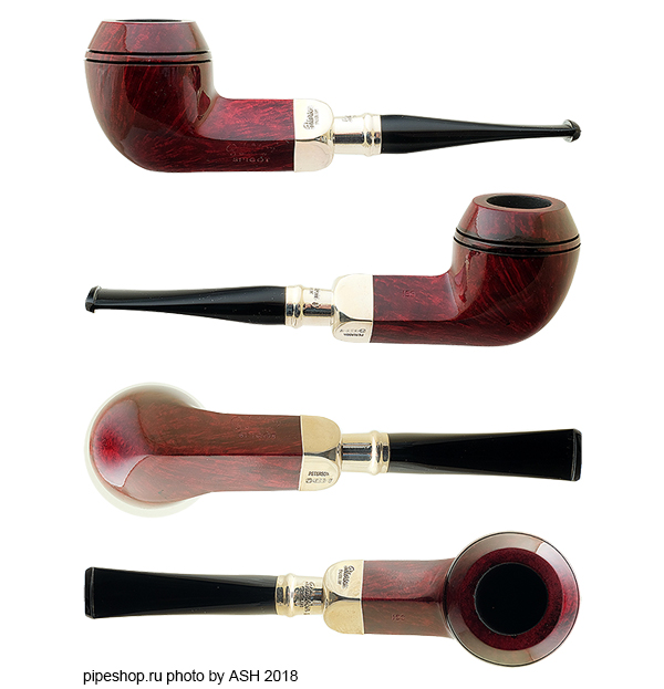 Курительная трубка PETERSON RED SMOOTH SILVER MOUNTED SPIGOT 150