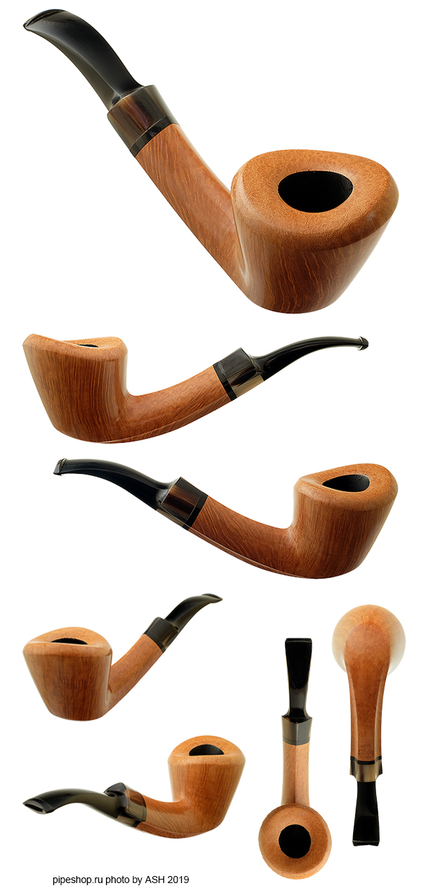 Курительная трубка POUL ILSTED SMOOTH BENT ASSYMMETRICAL DUBLIN WITH HORN (2013)