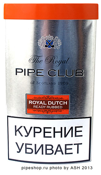 Трубочный табак THE ROYAL PIPE CLUB ROYAL DUTCH READY RUBBED, банка 40 г.
