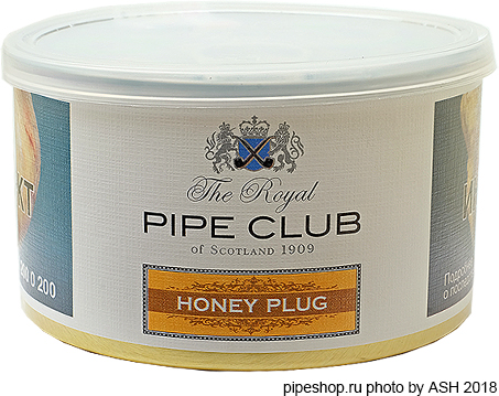 Трубочный табак THE ROYAL PIPE CLUB HONEY PLUG, банка 100 г.